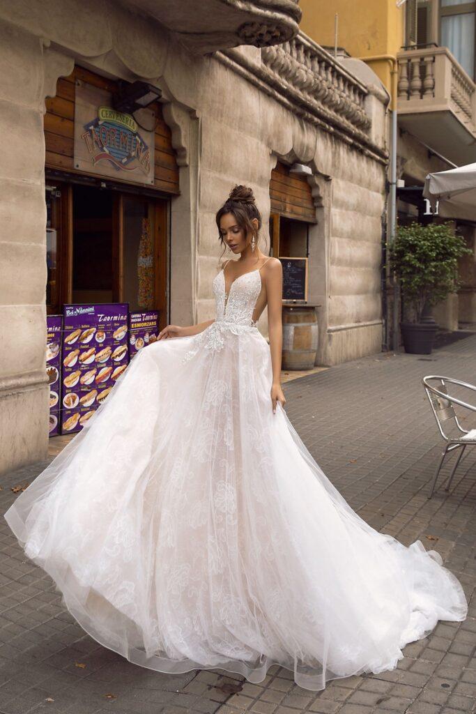 rochie de mireasa tul